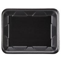 Genpak 1004D (#4D) Foam Meat Tray Black 9 1/4 inch x 7 1/4 inch x 1 1/4 inch - 500/Case