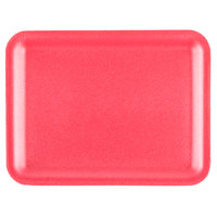 Genpak 1020S (#20S) Rose 8 1/2 inch x 6 1/2 inch x 1/2 inch Foam Supermarket Tray - 500 / Case