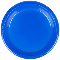 Creative Converting 28314721 9 inch Cobalt Blue Plastic Dinner Plate - 20 / Pack