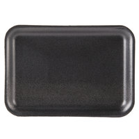 Genpak 1002S (#2S) Black 8 1/4 inch x 5 3/4 inch x 1/2 inch Foam Supermarket Tray - 500/Case