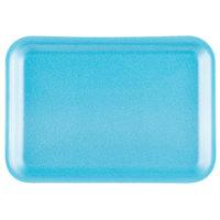 Genpak 1002S (#2S) Foam Meat Tray Blue 8 1/4 inch x 5 3/4 inch x 1/2 inch - 500/Case