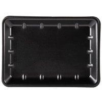 Genpak 1014 (#10X14) Foam Meat Tray Black 10 inch x 13 7/8 inch x 1 1/4 inch - 100/Case