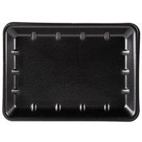 Genpak 1014 (#10X14) Black 10 inch x 13 7/8 inch x 1 1/4 inch Foam Supermarket Tray   - 100/Case