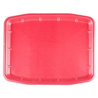 Genpak 11216 (#12X16) Rose 12 inch x 15 3/4 inch x 3/4 inch Foam Supermarket Tray - 100 / Case