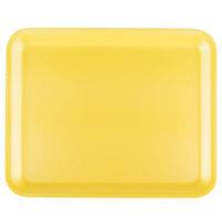 Genpak 1012S (#12S) Yellow 11 1/4 inch x 9 1/4 inch x 1/2 inch Foam Supermarket Tray - 250 / Case