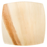 TreeVive by EcoChoice 6 inch Square Coupe Palm Leaf Plate - 25/Pack