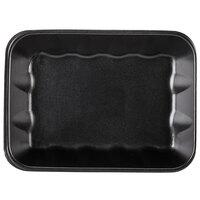 Genpak 1020K (#20K) Foam Meat Tray Black 11 7/8 inch x 8 3/4 inch x 2 1/2 inch - 100/Case