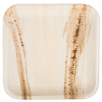TreeVive by EcoChoice 10 inch Square Palm Leaf Plate - 25/Pack