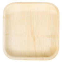 TreeVive by EcoChoice 8 inch Square Palm Leaf Plate - 25/Pack