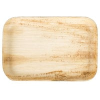 EcoChoice 9 inch x 6 inch Rectangular Palm Leaf Plate - 25 / Pack