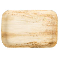 EcoChoice 9 inch x 6 inch Rectangular Palm Leaf Plate - 25/Pack
