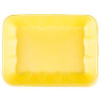 Genpak 1020K (#20K) Foam Meat Tray Yellow 11 7/8 inch x 8 3/4 inch x 2 1/2 inch - 100/Case