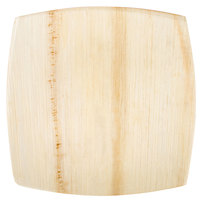 EcoChoice 8 inch Square Coupe Palm Leaf Plate - 25 / Pack