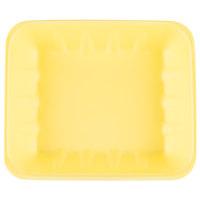 Genpak 1022K (#22K) Foam Meat Tray Yellow 12 1/4 inch x 10 1/4 inch x 2 7/8 inch - 100/Case