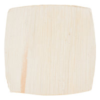 TreeVive by EcoChoice 4 inch Square Coupe Palm Leaf Plate   - 25/Pack