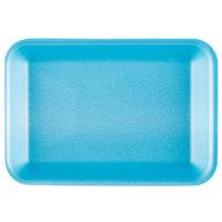 Genpak 1002 (#2) Blue 8 1/4 inch x 5 3/4 inch x 1 inch Foam Supermarket Tray - 500/Case