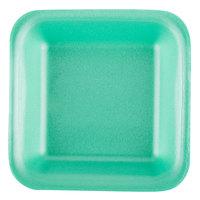 Genpak 1501 (#1) Green 5 1/4 inch x 5 1/4 inch x 1 inch Foam Supermarket Tray - 500/Case