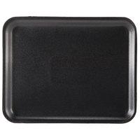 Genpak 1008S (#8S) Foam Meat Tray Black 10 1/4 inch x 8 1/4 inch x 1/2 inch   - 500/Case