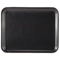 Genpak 1008S (#8S) Black 10 1/4 inch x 8 1/4 inch x 1/2 inch Foam Supermarket Tray - 500/Case