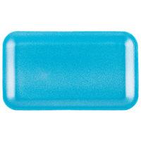 Genpak 1017S (#17S) Blue 8 1/4 inch x 4 3/4 inch x 1/2 inch Foam Supermarket Tray - 125/Pack