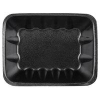 Genpak 1042 (#42) Foam Meat Tray Black 8 5/8 inch x 6 1/2 inch x 2 3/8 inch - 63/Pack