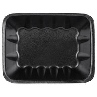 Genpak 1042 (#42) Black 8 5/8 inch x 6 1/2 inch x 2 3/8 inch Foam Supermarket Tray   - 63/Pack
