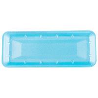 Genpak 1007S (#7S) Blue 14 7/16 inch x 5 3/4 inch x 1 inch Foam Supermarket Tray - 125/Pack