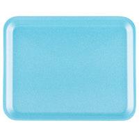 Genpak 1008S (#8S) Blue 10 1/4 inch x 8 1/4 inch x 1/2 inch Foam Supermarket Tray - 125 / Pack