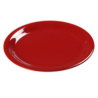 Carlisle 3301005 10 1/2 inch Red Sierrus Wide Rim Dinner Plate - 12 / Case
