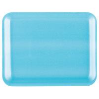 Genpak 1004S (#4S) Blue 9 1/4 inch x 7 1/4 inch x 1/2 inch Foam Supermarket Tray - 125/Pack