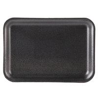 Genpak 1002S (#2S) Black 8 1/4 inch x 5 3/4 inch x 1/2 inch Foam Supermarket Tray - 125/Pack