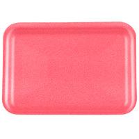 Genpak 1002S (#2S) Foam Meat Tray Rose 8 1/4 inch x 5 3/4 inch x 1/2 inch - 125/Pack
