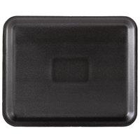 Genpak 1012S (#12S) Black 11 1/4 inch x 9 1/4 inch x 1/2 inch Foam Supermarket Tray - 125 / Pack