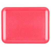 Genpak 1020S (#20S) Rose 8 1/2 inch x 6 1/2 inch x 1/2 inch Foam Supermarket Tray - 125 / Pack