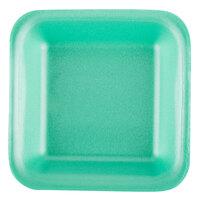 Genpak 1501 (#1) Green 5 1/4 inch x 5 1/4 inch x 1 inch Foam Supermarket Tray - 125 / Pack