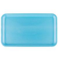 Genpak 1016S (#16S) Blue 12 1/4 inch x 7 1/4 inch x 1/2 inch Foam Supermarket Tray - 125 / Pack