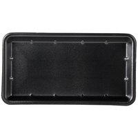 Genpak 1025S (#25S) Black 8 inch x 14 3/4 inch x 1 1/16 inch Foam Supermarket Tray - 125/Pack