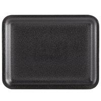 Genpak 1020S (#20S) Black 8 1/2 inch x 6 1/2 inch x 1/2 inch Foam Supermarket Tray - 125 / Pack