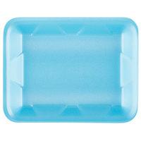 Genpak 1004D (#4D) Blue 9 1/4 inch x 7 1/4 inch x 1 1/4 inch Foam Supermarket Tray - 125/Pack