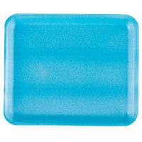 Genpak 1012S (#12S) Blue 11 1/4 inch x 9 1/4 inch x 1/2 inch Foam Supermarket Tray - 125 / Pack