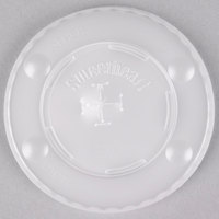 Dart Solo L12BLN-0100 12 oz. Translucent Flat Plastic Lid with Straw Slot and Identification Buttons - 125 / Pack