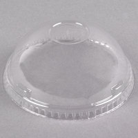 Dart Solo DL639 UltraClear 32 oz. Clear PET Plastic Dome Lid with 1 inch Hole - 500 / Case
