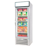 Beverage-Air MMF27-1-W-EL-LED MarketMax 30 inch White One Section Glass Door Merchandiser Freezer with Electronic Lock - 27 cu. ft.