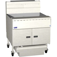 Pitco SGM1824-D MegaFry 100-110 lb. Gas Floor Fryer with Digital Controls - 120,000 BTU
