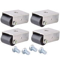 Beverage Air 00C31S045A 1 1/2 inch Roller Casters for SPE, UC, and WT Units - 4/Set