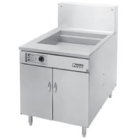 Pitco® 34F-SSTC Liquid Propane 210-235 lb. High Capacity Food and Fish Floor Fryer with Solid State Thermostatic Controls - 190,000 BTU
