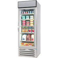 Beverage-Air MMR23-1-W-EL-LED MarketMax 27 inch White One Section Glass Door Merchandiser Refrigerator with Electronic Lock - 23 cu. ft.