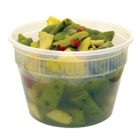 16 oz. Microwavable Plastic Deli Container – 48 / Pack