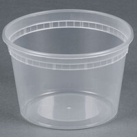 16 oz. Microwavable Translucent Plastic Deli Container - 48 / Pack