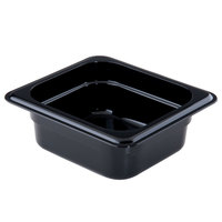 Cambro 62CW110 Camwear 1/6 Size Black Food Pan - 2 1/2 inch Deep